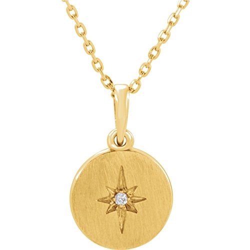 FB Jewels 14K Yellow Gold .08 CTW Diamond Starburst 16-18