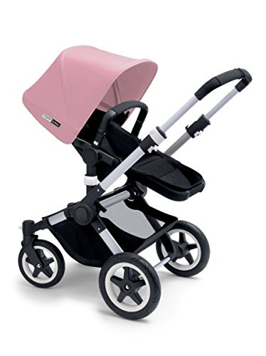 Bugaboo 2015 Buffalo Stroller Complete Set in Aluminum and Black (Soft Pink)