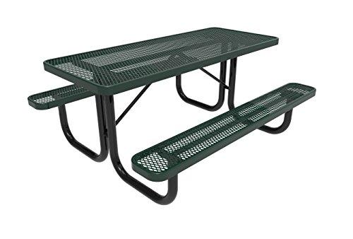 Cheap CoatedOutdoorFurniture T6-GRN Rectangular Portable Picnic Table, 6 Feet, Green