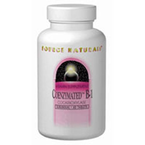 Coenzymated B-1 Sublingual, 25 MG, 30 Tabs by Source Naturals (Pack of 3)
