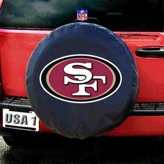 San Francisco 49ers NFL Spare Tire Cover (Black) by Fremont Die