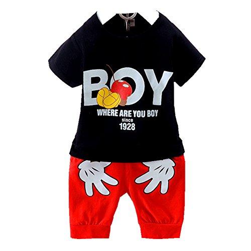 ftsucq-little-boys-cartoon-letter-pattern-two-pieces-shorts-setsblack-100