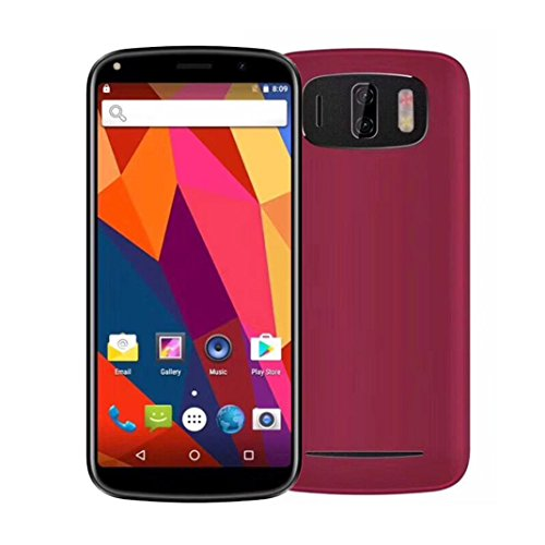 6.0Inch Smartphone Android7.0 Unlocked 18:9 Smartphone 1+4GB Straight talk T-Mobile Quad Core 2 SIM 3G Net (Red) by FreshZone