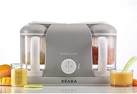 Béaba Babycook Duo Robot de cocina infantil 4 en 1, Tritura, cocina y cuece al vapor, Cocción al vapor rápida en 15 minutos, Comida casera para bebés y niños, Capacidad XXL: 2