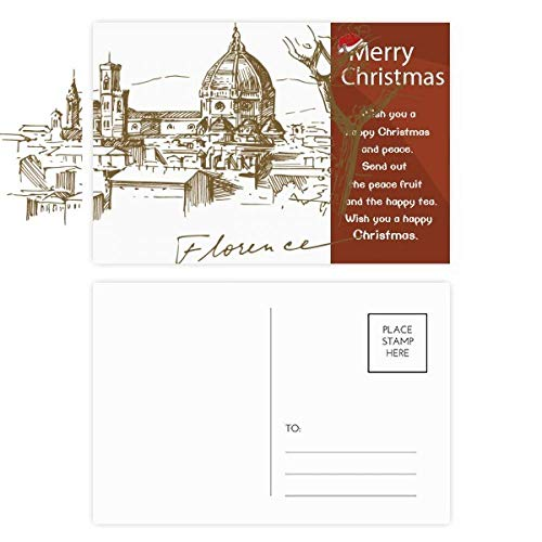 Florence Cathedral Italy Pattern Christmas Message Postcard Card 20pcs ()