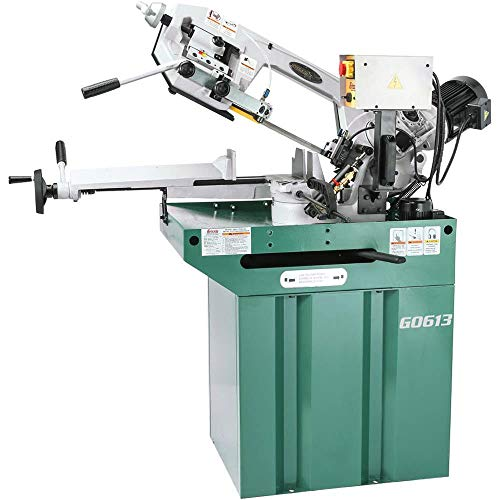 Grizzly G0613 Swivel Metal-Cutting Bandsaw, 7 x 8-1/4-Inch
