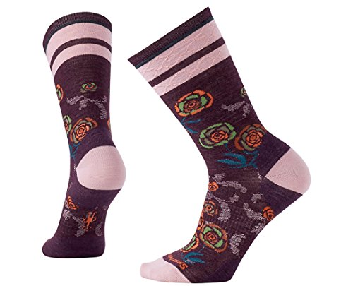 Smartwool Women's Rosey Posey Crew Socks Large