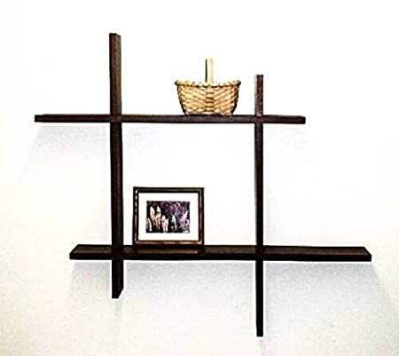 ANB Enterprises Wall Shelf Wooden Wall Shelf  Number of Shelves   1, Brown  Wall Shelves