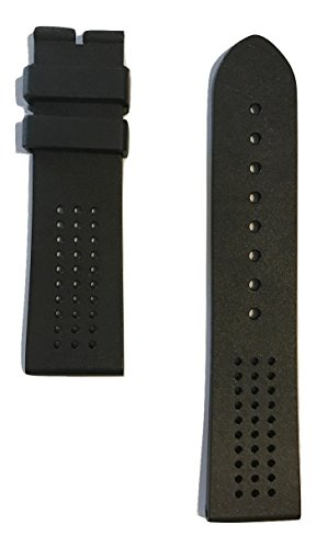 Mens Museum Movado - Movado Museum Sport Black Rubber Strap Band for 0606545, 0607002, 0606507, 0660003