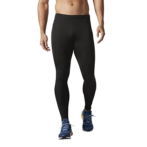 adidas Men's Running Response Long Tight Bottom, Black/Shock Pink, Medium