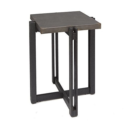 Silverwood FT1275-SMACC-SME Dakota Accent Table with Square Metal Top, 19.25″ L x 19.25″ W x 23.25″ H, Bronze Metal