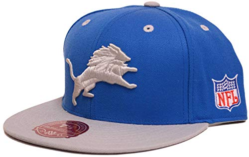Mitchell & Ness Detroit Lions 2 Tone Fitted Hat Cap (7 -