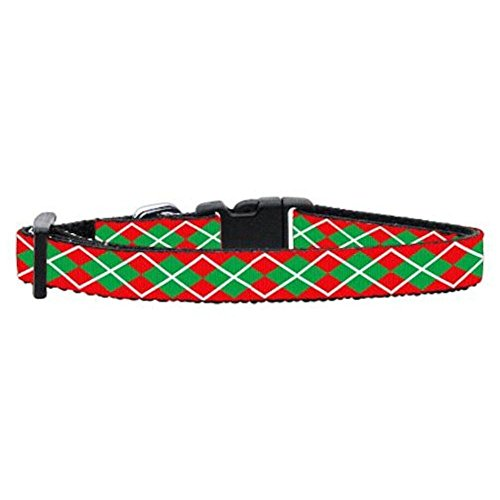 Mirage Pet Products Christmas Argyle Nylon Ribbon Cat Safety Collar, Not Applicable
