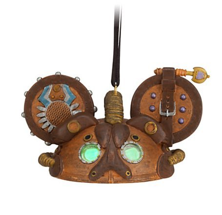 Steampunk Ear Hat Limited Edition Ornament Leather Official Disney Collectible