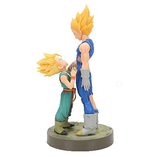 CYRAN Dragon Ball Z Vegeta Figure Japanese Anime Vegeta Action Figure Kids Toys Vegeta Trunks Action Figure Super Saiyan Vegeta and Trunks Father and Son Dragon Ball Z Collection Figure ()