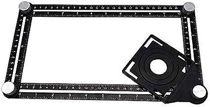 artesanos carpinteros 2Pcs Regla de carpinter/ía cuadrada Herramienta de plantilla de regla de /ángulo de 45//90 grados para constructores gris arquitectos