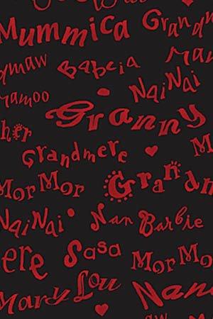 Fat Quarter Grandma 's House Script in tessuto, colore: nero, dimensioni: 50 cm x 55 cm
