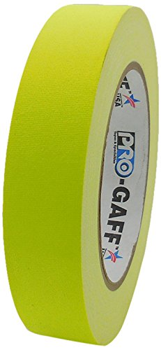 Pro-Gaff RS127YE24X25 24 mm x 25 yd Fluorescent Matt Cloth Tape Pro Tapes & Specialties Inc USA