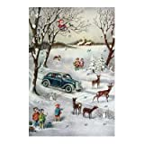 Alexander Taron Korsch Advent Old Fashioned Car - 8.25'' H x 5.75'' W x .1'' D