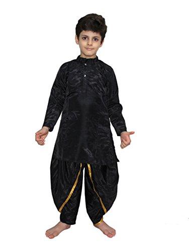 Kurta Dhoti (Black Dhoti Kurta Boys Fancy Dress Costume of Indian State Traditional Wear)