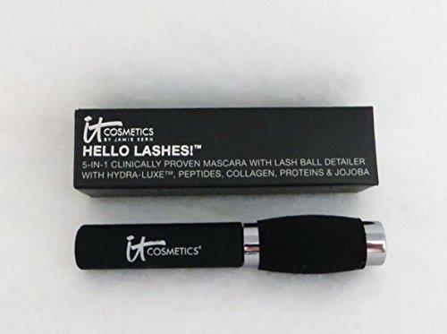 It Cosmetics Hello Lashes 5 In1Volumizing Travel Sized Mascara 0.16FL oz by It Cosmetics