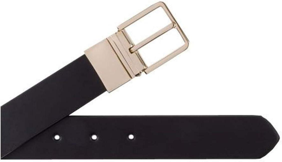 Paul Smith Mens Black Signature Stripe Leather Cut-To-Fit Reversible Belt Kit Size 40