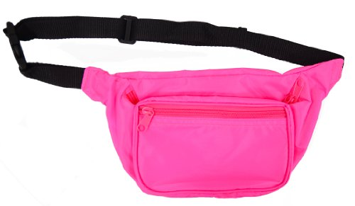 Neon Fanny Pack (Blank) (Neon Pink) (80s Neon Fashion)