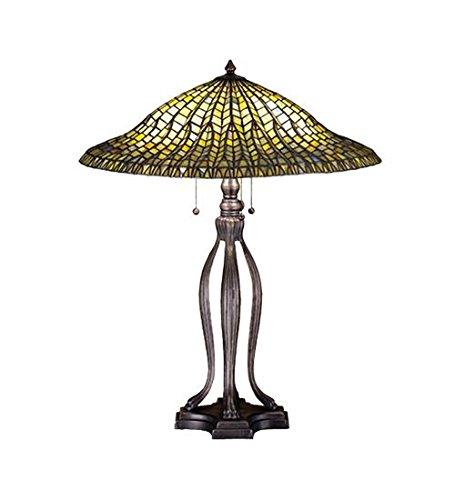 Meyda Tiffany 29385 Three Light Table Lamp, 30
