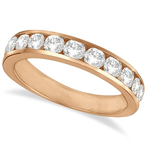 (Channel-Set Round Diamond Ring Band 14k Rose Gold (1.25ct))