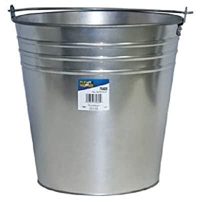 LubriMatic 75-825 Galvanized Water Pail, 12 Qt: Industrial & Scientific