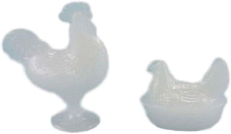 Casa de Muñecas Verde Gallo /& Adornos de anidación gallina Chrysnbon