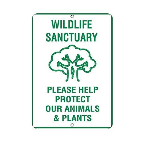 Wildlife Sanctuary Please Help Protect Our Animals /& Plants Aluminum METAL Sign