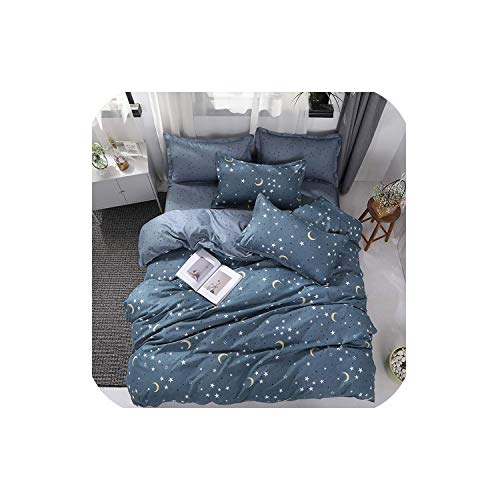 LOVE-JING Bedding Set Superfine Fiber Winter Thickening Bed Linens 3/4Pcs Duvet Cover Set Pastoral Bed Sheet Duvet Cover,Zc25,King Cover 220By230