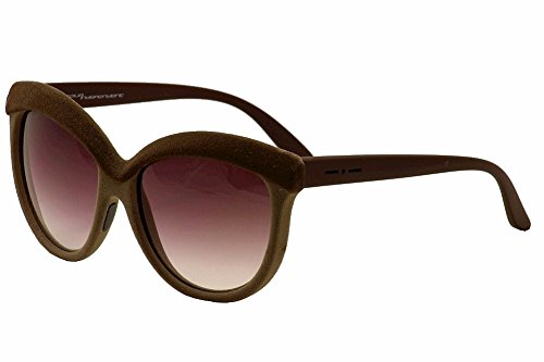 Italia Independent 0092V2 I-V 044 041 Brown Sand Velvet Plastic Butterfly Sunglasses Brown Gradient Lens