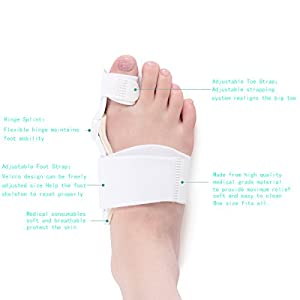 Bunion Corrector Hallux Valgus Bunion brace Splint Pads for Foot Bunion Relieve Relief Aid Surgery Treatment Toe Separators Straighteners(2 pieces)