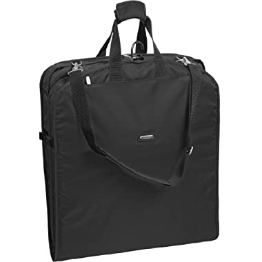 WallyBags 42 Inch Shoulder Strap Garment Bag, Black, One Size