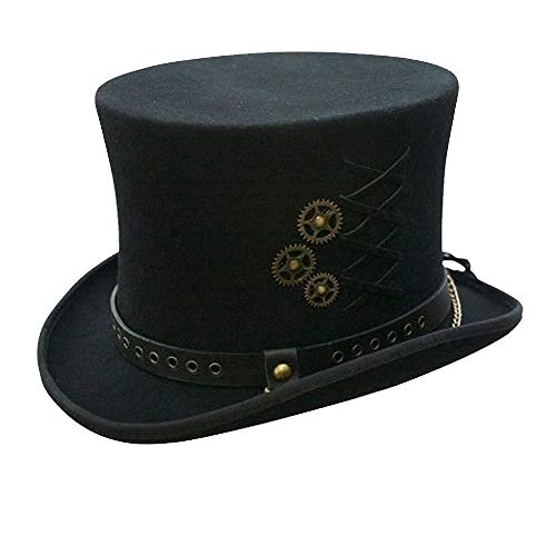 SteamPunk Top Hat Black X-Large from Conner Hats