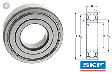 4 pcs 6303-2RSH SKF Brand rubber seals ball bearing Made in France Chrome steel