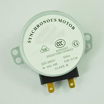 SODIAL(R) Motor Sincronico para Horno de Microondas 4W AC 220-240V ...