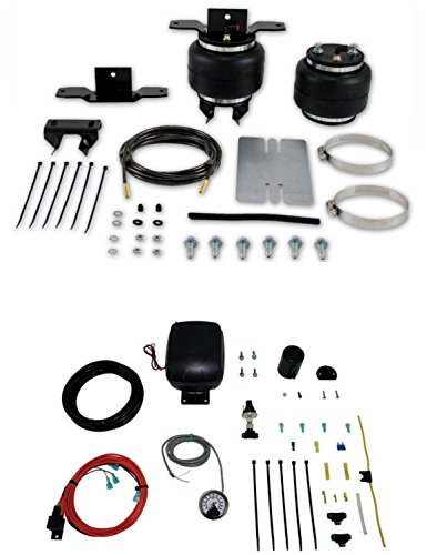 Air Lift 57113/25850 Set of Rear Load Lifter 5000 Series w/Load Controller Single Path On-Board Air Compressor System Kit for Toyota Motorhome Micro - Micro Single Suspension