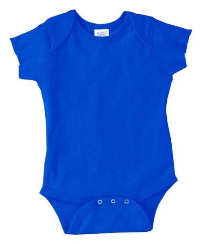 Rabbit Skins Infants'5 oz. Baby Rib Lap Shoulder Bodysuit, NB, ROYAL