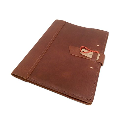 Leather Composition Notebook Cover with College Ruled Insert 9 ¾
