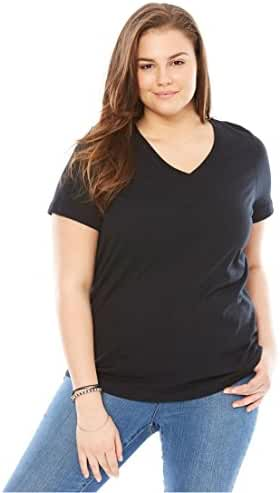 Women's Plus Size Perfect V-Neck Tee