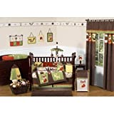 Sweet Jojo Designs 3-Piece Woodland Forest Animals Children and Kids Full / Queen Boys Bedding Set