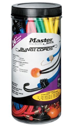 (Master Lock Bungee Cords, Twin Wire Bungee Cords, Size and Color Assortment Pack, 3023AT (Pack of 24))