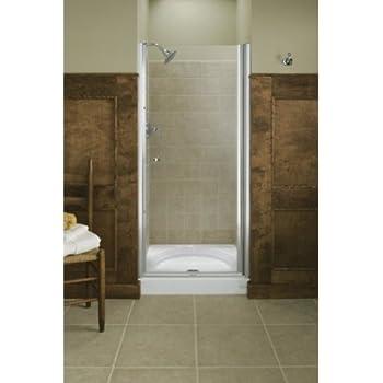 KOHLER K-702400-L-SH Fluence Frameless Pivot Shower Door, Bright ...