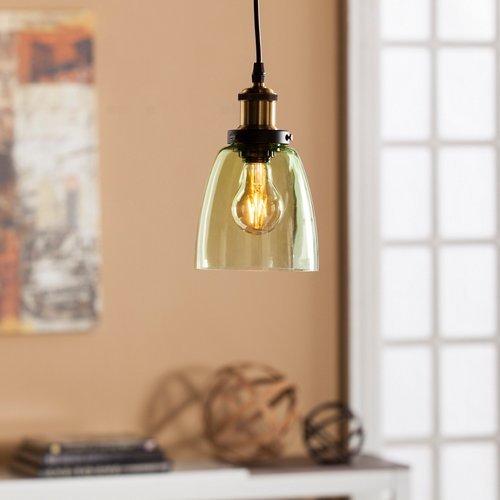 Southern Enterprises Savio Colored Glass Mini Pendant Lamp