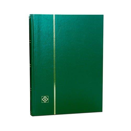 3 Classeurs pour timbres Leuchtturm, 64 pages fond noir, 1 couverture rouge, 1 couverture verte et 1 couverture bleue