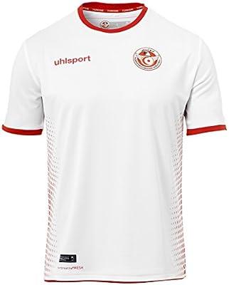 6e850ff9d Amazon.com : uhlsport 2018-2019 Tunisia Home Football Shirt : Sports &  Outdoors
