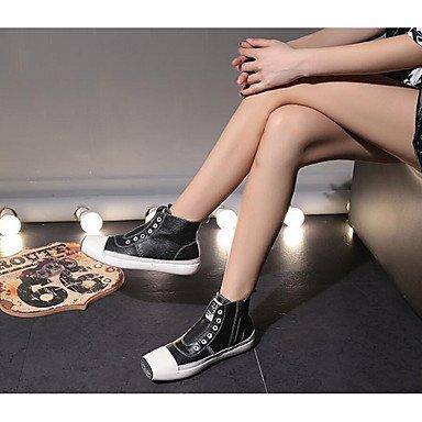 Ch & Tou Femmes-bottines-loisirs-autres -peau Noire-noir / Blanc, Us7.5 / Eu38 / Uk5.5 / Cn38